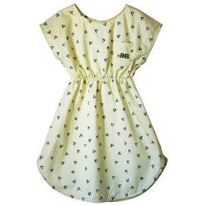 Bandy Button Cove Dress in Yellow