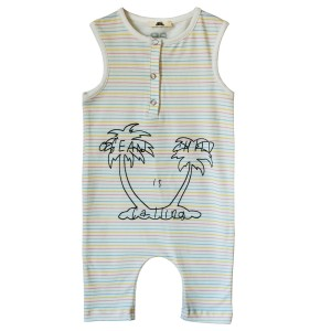 Bandy Button Dixie Baby Overall in Ivory