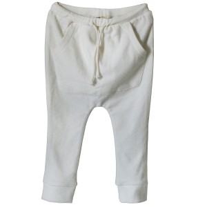 Bandy Button Palm Jogging Short in Ivory