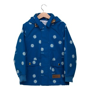 Lea Jojo SS19 Coat Classic Shirt Neck Blue Flowers