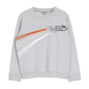 Emile et Ida Avion Sweatshirt in Gris Chine