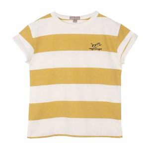 Emile et Ida Large Rayure T-Shirt in Tournesol