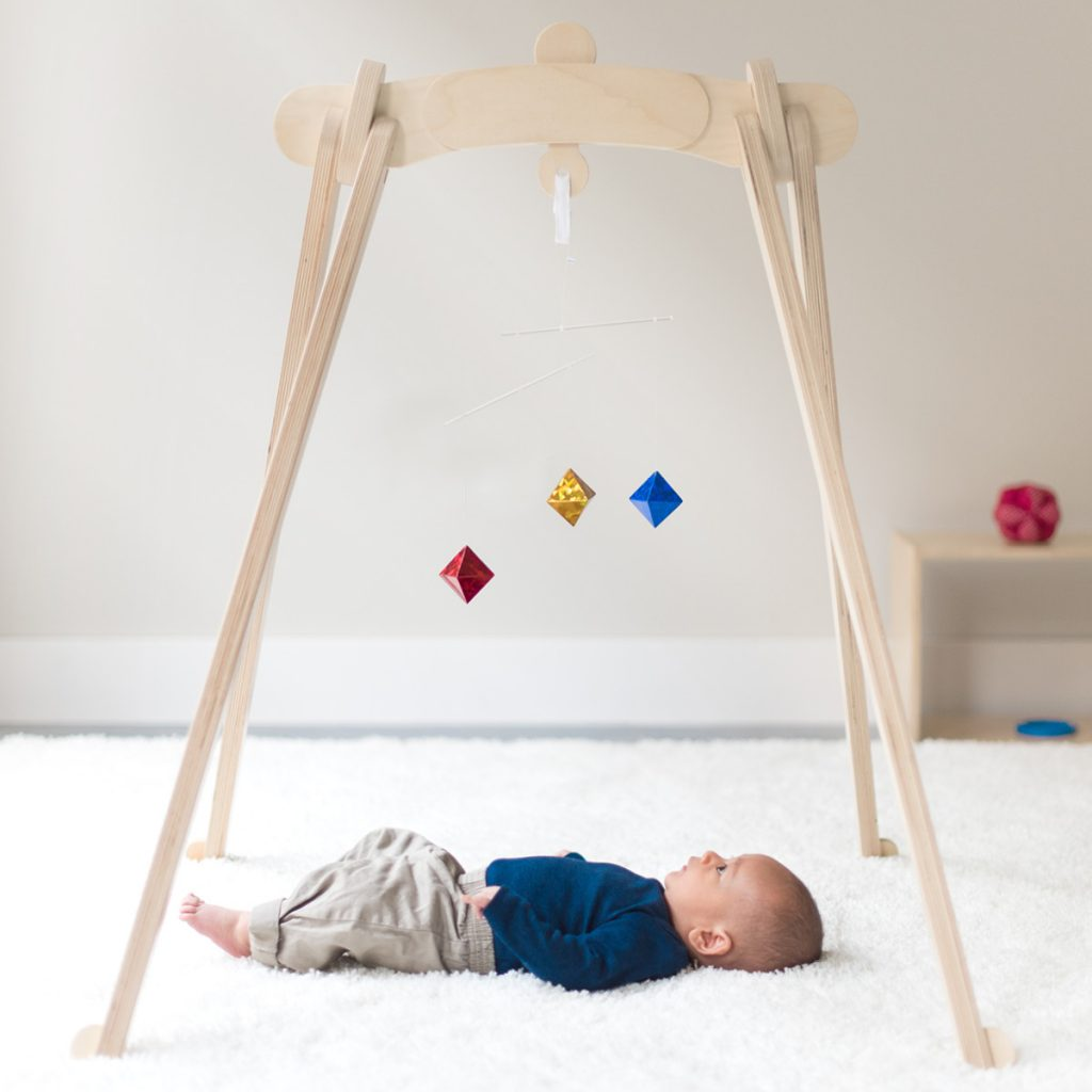 Monti Kids Activity Gym Lifestyle Image with Baby