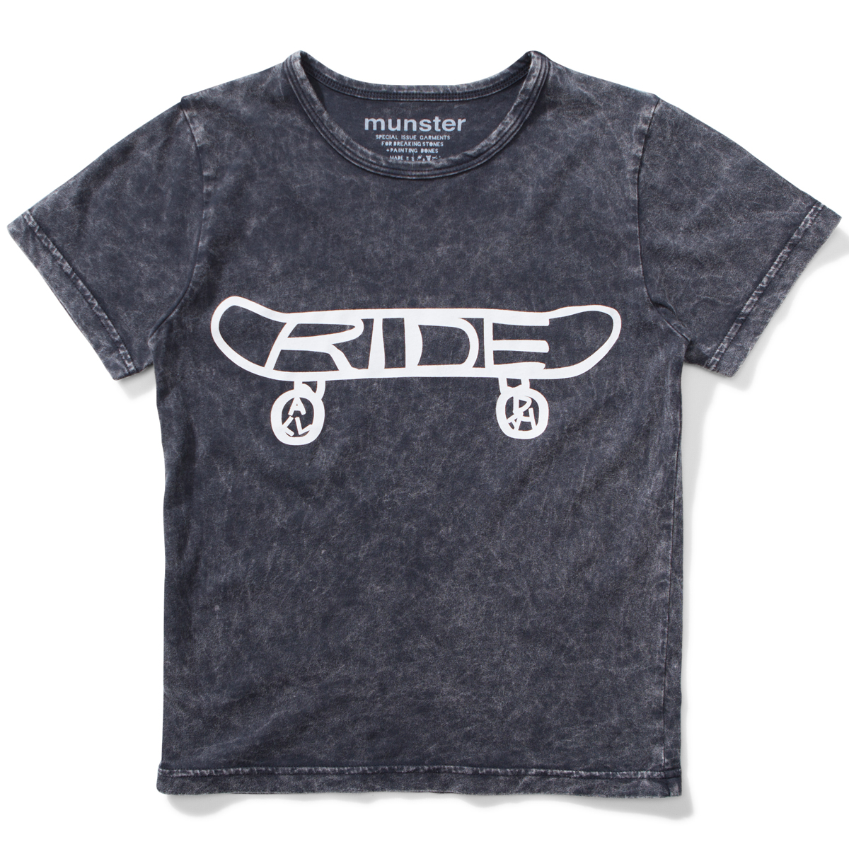 Munster Kids SS19 T Shirt RIde All Day Acid Black