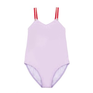 Pacific Rainbow One Piece Swimsuit in Lilac