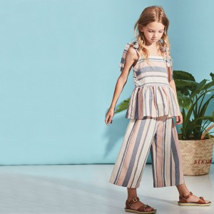 Kids On The Moon Sailor Striped Pant on girl