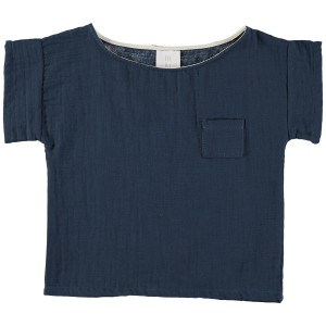Liilu Pocket Shirt in Blue Antra
