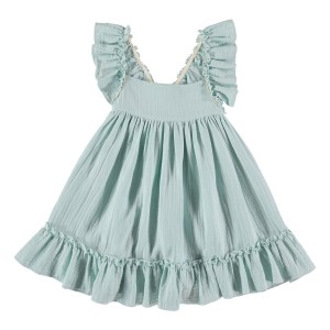 Liilu Pinafore Dress in Mint