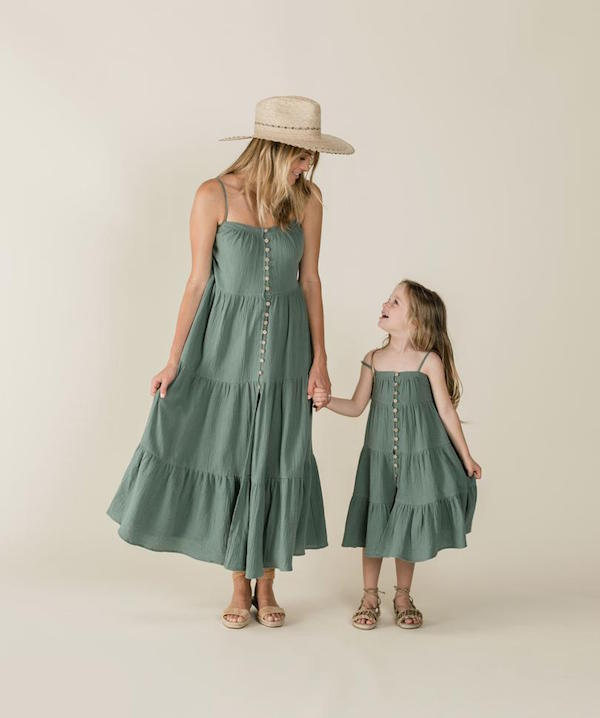 Rylee + Cru Tiered Maxi Dress for Mommy and me