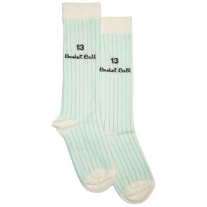 Bandy Button Lil Socks in Blue Stripe