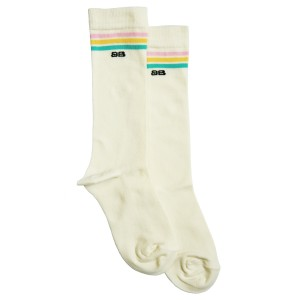 Bandy Button Tal Socks in Cream