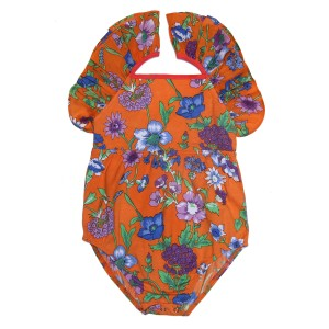 Coco Ginger SS19 Leotard Fawn Marigold Fiore