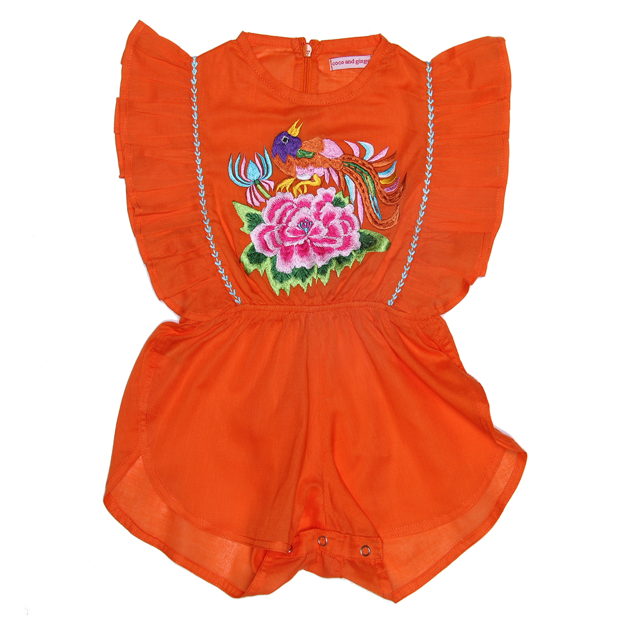 Coco Ginger SS19 Sunsuit Delphine Marigold