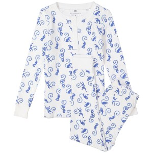 Ros Garden SS19 Pajama Set Monki Blue
