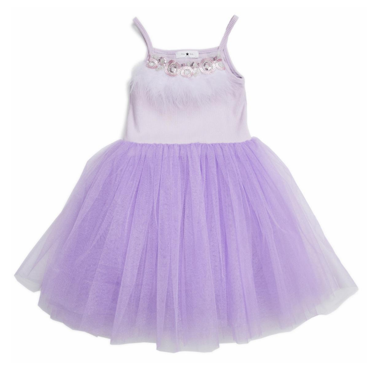 Petite Hailey SS19 Tutu Dress Feather Lavender