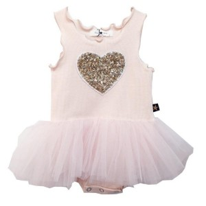 Petite Hailey SS19 Tutu Dress Heart Baby Pink