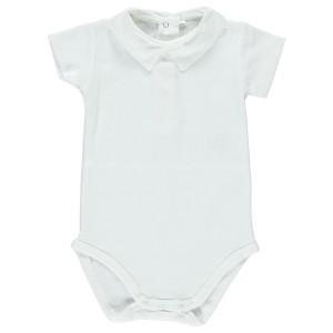 Dot Baby SS19 Bodysuit Summer Lourenço White