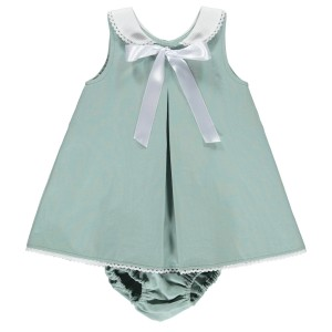 Dot Baby SS19 Dress Lia Pale Green