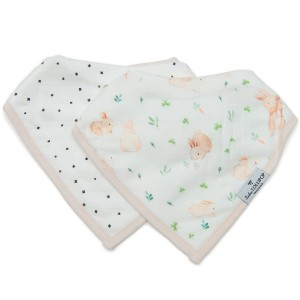 LouLou Lollipop Bib Set Bunny Meadow