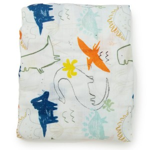 LouLou Lollipop Crib Sheet Dinosaur