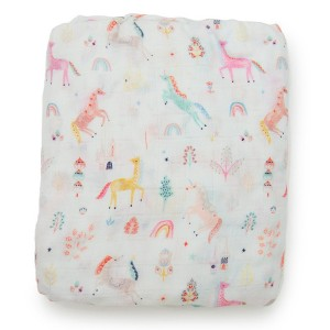 LouLou Lollipop Crib Sheet Unicorn