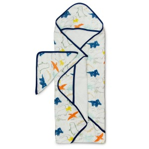 LouLou Lollipop Hooded Towel Set Dinosaur