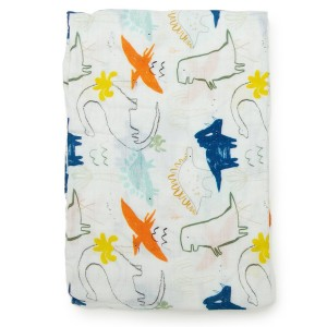 LouLou Lollipop Swaddle Dinosaur