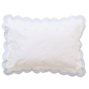 The Proper Peony Boudoir Baby Pillow Classic Dot Blue White