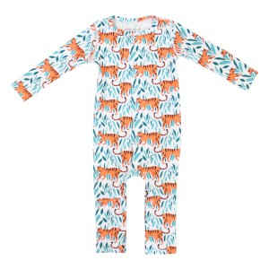 Cover Swim x The Tot Long Sleeve Long Leg Swim One Piece in Tiger