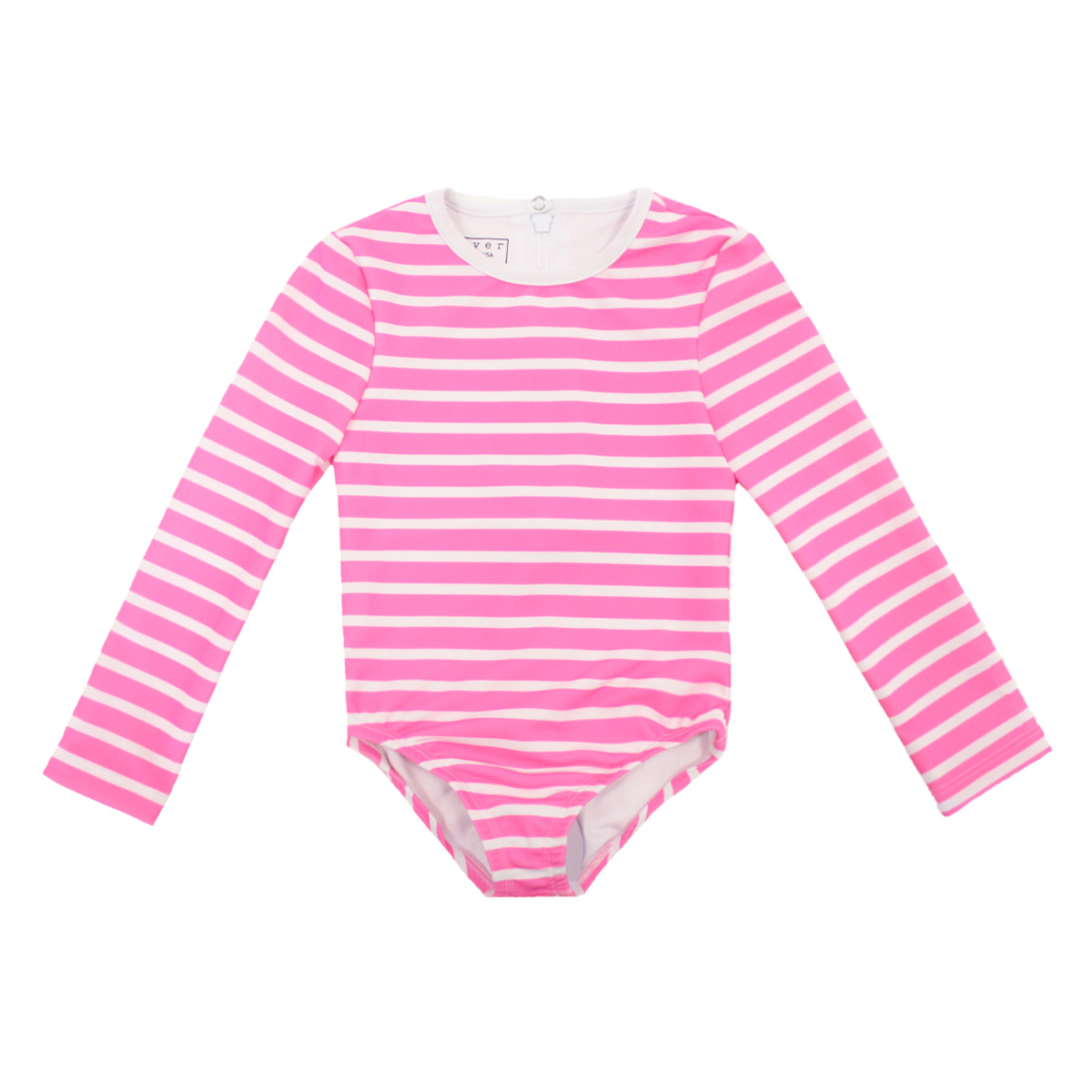 Cover Swim x The Tot Long Sleeve Swimsuit in Pink Stripe