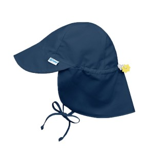 Green Sprouts Flap Sun Protection Hat in Navy
