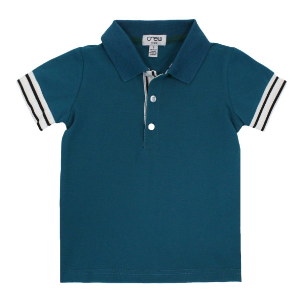 CrewSS19PoloStripeCuffTeal1