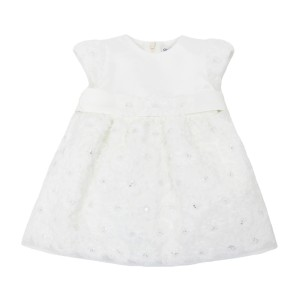 Piccola Ludo Loto Dress in White