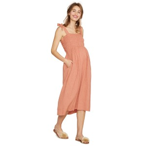 Hatch Collection Margaux Dress in Terracotta Gingham
