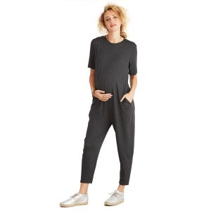 Hatch Collection Walkabout Jumper in Charcoal