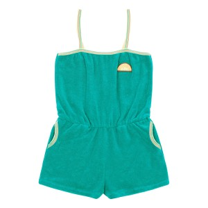 Hundred Pieces Sunny Sponge Terry cloth Playsuit in Emerald Green