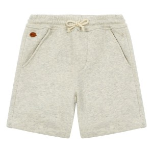Hundred Pieces Tiger Bermuda Shorts in Heather White