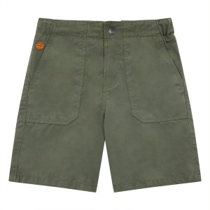 Hundred Pieces Worker Bermuda Shorts in Khaki