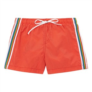 Hundred Pieces Rainbow Swim Short in Coral