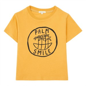 Hundred Pieces Palm Smile T-Shirt in Honey