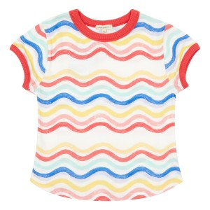 Hundred Pieces Waves T-Shirt in Multicolor