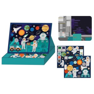 Petit Collage Magnetic Play Scenes Space