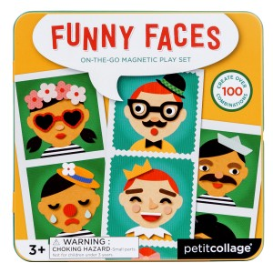 Petit Collage Magnetic Play Set Funny Faces