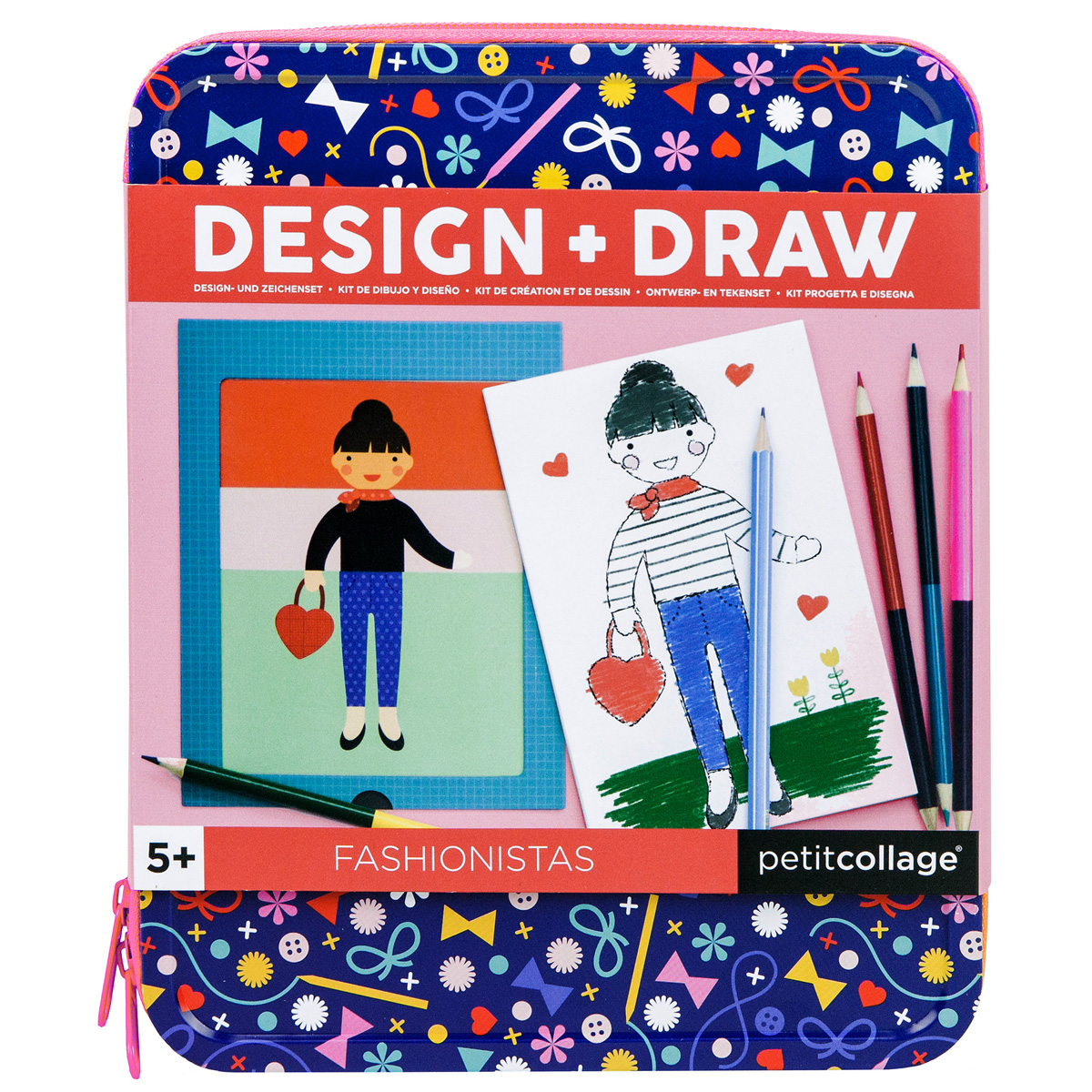 Petit Collage On the Go Drawing Kits Fashionistas