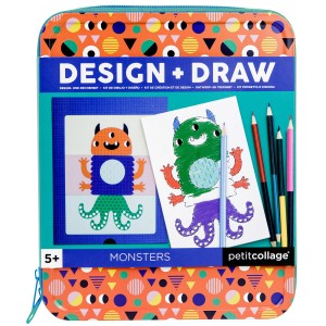 Petit Collage On the Go Drawing Kits Monsters