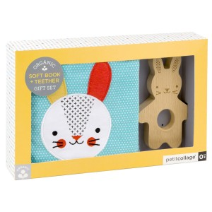 Petit Collage Organic Soft Book Set Rabbit