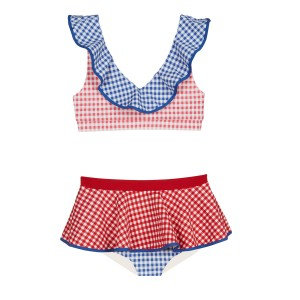 Marysia SS19 Bumby Piana Top Multi Color Gingham