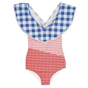Marysia SS19 Bumby Sag Harbour Maillot Multi Color Gingham