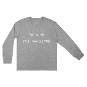 Spiritual Gangster Be Kind Long Sleeve T-Shirt in Stone Grey