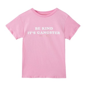 Spiritual Gangster Short Sleeve Be Kind Its Gangster T-Shirt in Pink